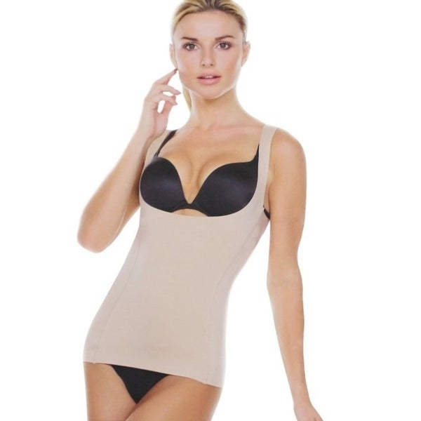 2198b0aef0d88 Shop Strm Line Open Bust Bra Cami Shapewear - Free Shipping On Orders Over   45 - Overstock - 22814873