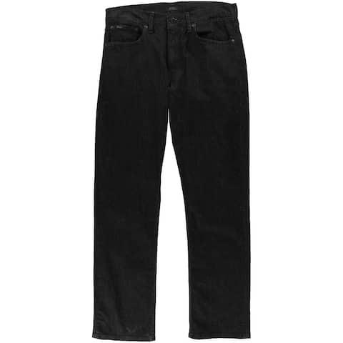 Ralph Lauren Mens Prospect Straight Leg Jeans, Black, 32W x 30L