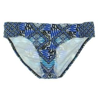 Kenneth Cole Womens STRETCH Printed Swim Bottom Separates - L