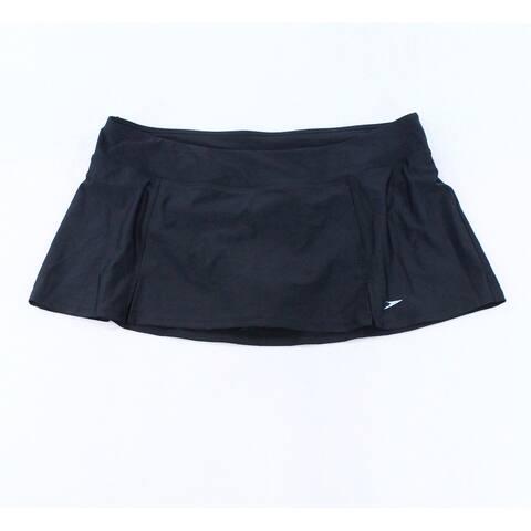 Speedo Deep Black Womens Size Small S UV 50+ Swim Skirt Swimwear