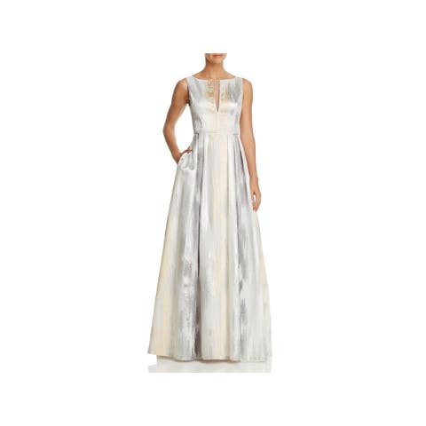 d464cee3ab Aidan Mattox Womens Formal Dress Metallic Sleeveless