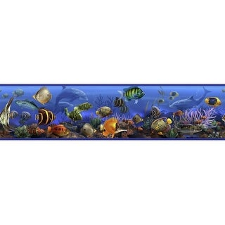 "RoomMates RMK1004BCS 5"" x 180"" - Under the Sea - Self-Adhesive Repositionable Vi - N/A"