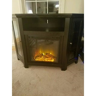 48 inch Black Corner Fireplace TV Stand Free Shipping