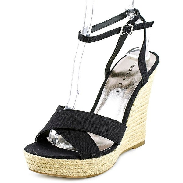 Madden Girl Viicki   Open Toe Canvas  Wedge Sandal