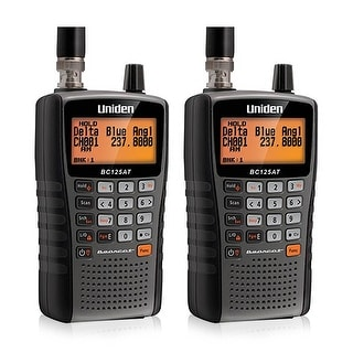 Uniden BC125AT (2 Pack) 500 Channel Bearcat Handheld Scanner w/ Weather Alert Feature