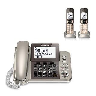Panasonic KX-TGF352N 3 Handset Corded / Cordless Phone W/ Night Mode Brand New