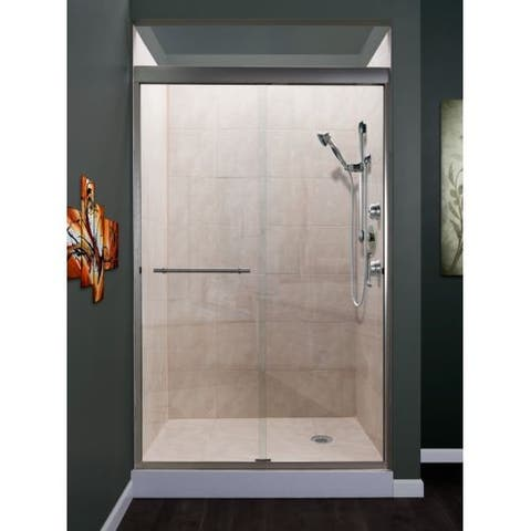 """Miseno MSDC4876 Azul 76"""" High x 48"""" Wide Semi-Framed Sliding Shower Door with Clea"""
