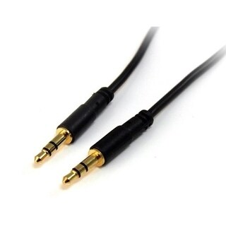 Startech Mu6mms 6 Ft Slim 3.5Mm Stereo Audio Cable - M/M - Black