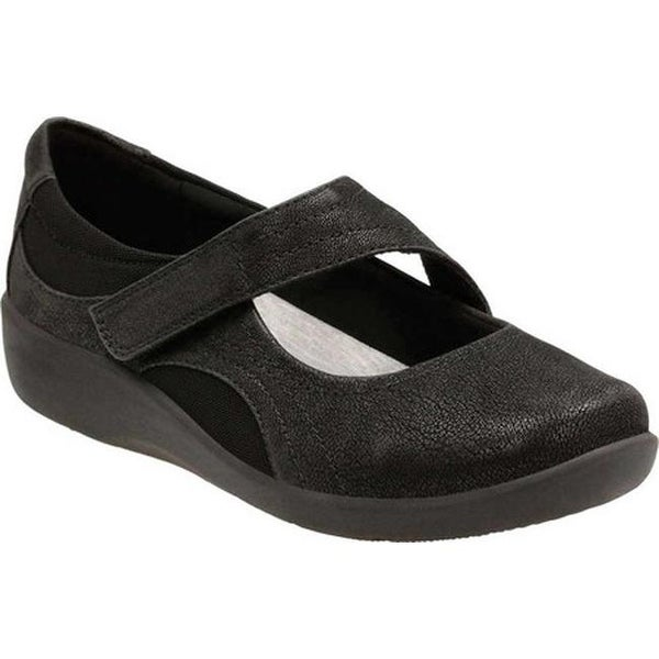 5fd9a4bd3b6 Shop Clarks Women's Sillian Bella Mary Jane Black Synthetic Nubuck ...