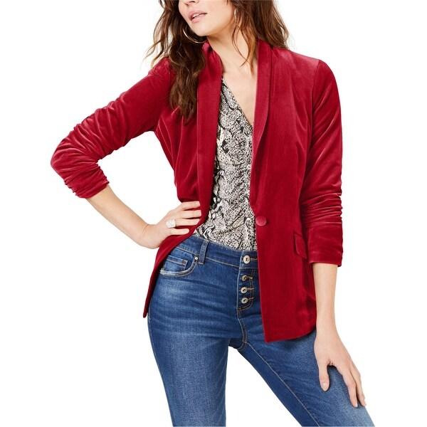 I-N-C Womens Velvet One Button Blazer Jacket. Opens flyout.