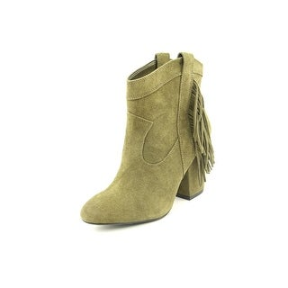 Jessica Simpson Wyoming Women Round Toe Suede Green Ankle Boot
