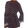 Funfash Plus Size Gothic Black White Lace Polka Dots Corset Top Blouse Shirt - Thumbnail 1