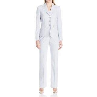 Le Suit NEW Purple Women's Size 6 Notch Collar 3-Button Pant Suit Set
