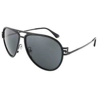 Versace VE2171B 125687/59 Matte Black Aviator sunglasses