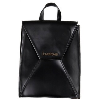 Bebe Womens Evelyn Backpack Faux Leather Adjustable Straps