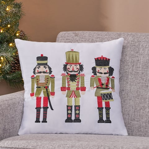 Dorse Modern Fabric Christmas Throw Pillow Cover by Christopher Knight Home