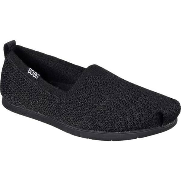 52b628bd488f Shop Skechers Women s BOBS Plush Lite Custom Built Alpargata Black ...