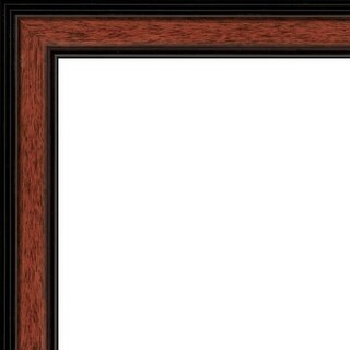 "Picture Frame Moulding (Wood) - Traditional Walnut Finish - 1.25"" width - 3/8"" rabbet depth"