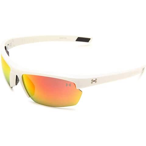 Under Armour Stride XL Sunglasses Oval, White/Gray Lens