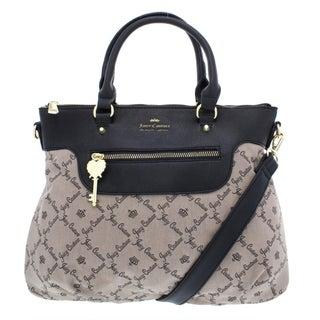 Juicy Couture Womens Cloud Nine Satchel Handbag Jacquard Convertible - MEDIUM