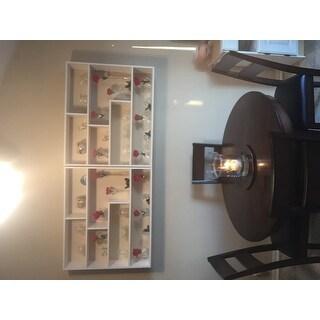 Porch & Den Montclair Lloyd Large Rectangular White Shelf Unit