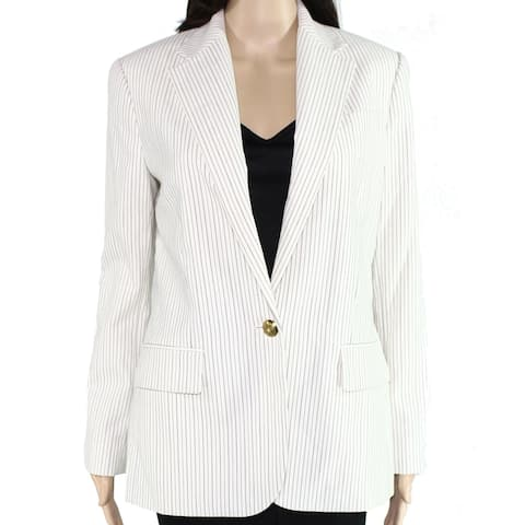 Lauren by Ralph Lauren Women's White Size 14 Suit Blazer Jacket