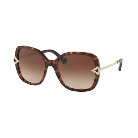 Bvlgari BV8217B 504/13 55 Dark Havana Woman Square Sunglasses