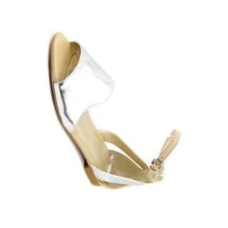 Tahari Francie Open Toe Patent Leather Gladiator Sandal