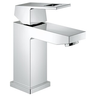 Grohe 23 133 A  Eurocube 1.2 GPM Single Handle Single Hole Bathroom Faucet with SilkMove Handle - Starlight Chrome