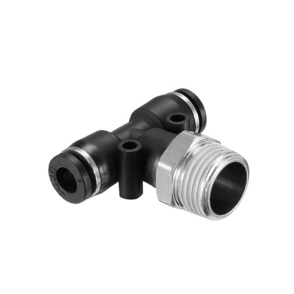 "PB6-03 Push To Connect Fittings T Type Thread Tee 15/64"" x 3/8"" G Male 5pcs - 15/64"" OD x 3/8"" G 5pcs"