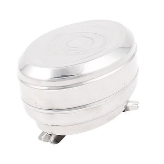 Unique Bargains Stainless Steel Egg Shaped Smoking Tobacco Cigarette Ashtray