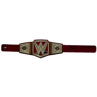 Goldberg Signed WWE Universal Championship Toy Replica Belt Whos Next BAS