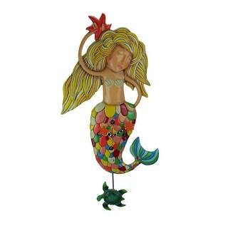 Allen Designs Large Sirena the Mermaid Pendulum Wall Clock