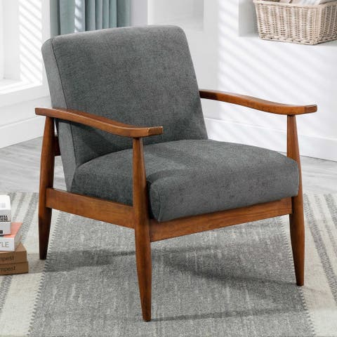 Aiden Wooden Base Accent Chair by Greyson Living