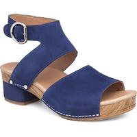 Dansko Womens Minka Leather Open Toe Casual Platform Sandals