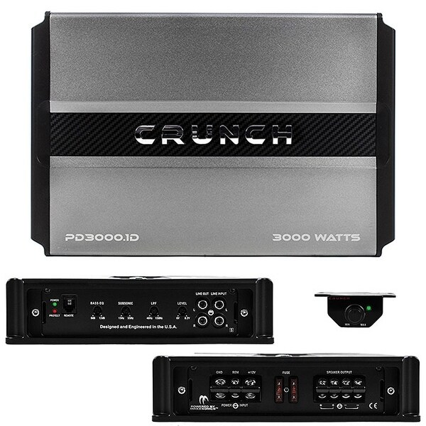 Crunch PD3000.1 3000W MONO Car Amplifier (2 OHM)