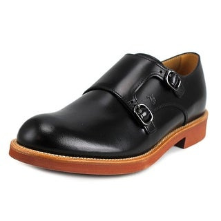 Tod's Monk Fondo Light Ox Men Round Toe Leather Black Loafer