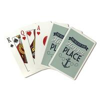 NJ - Sea Isle City Is My Happy Place - LP Artwork (Poker Playing Cards Deck)