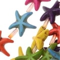 Dyed Magnesite Gemstone Beads, Starfish 14mm, 15 Inch Strand, Multi Color - Thumbnail 0