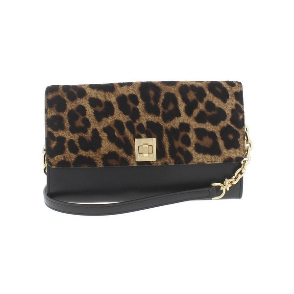Michael Kors Womens Wallet On A Chain Envelope Wallet Leather Animal Print - Small