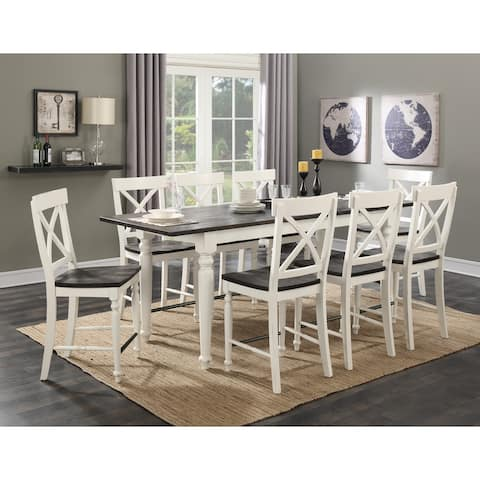 The Gray Barn Crooked Cottage 9-piece Country Gathering Height Dining Room Set