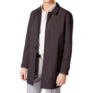 Calvin Klein Mens Raincoat Water Repellent Button Down