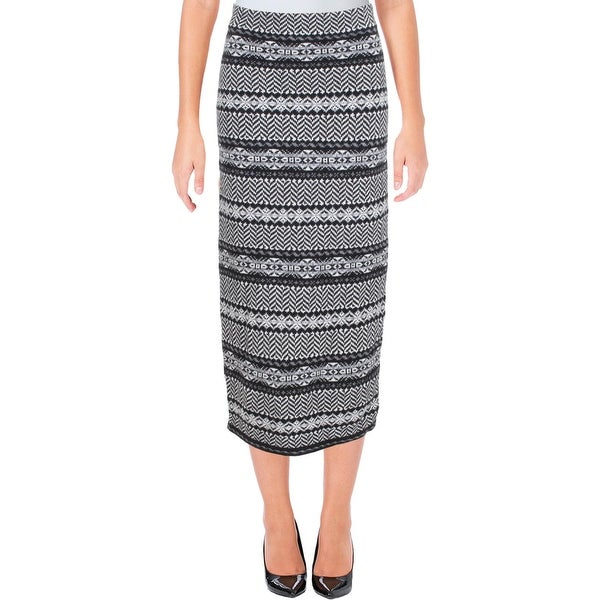 Shop Lauren Ralph Lauren Womens Knit Skirt Wool Blend Pattern Free
