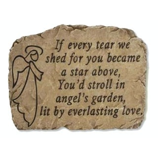 "10.5"" Slate-Look Inspirational Angel Memorial Decorative Outdoor Patio Garden Stone"