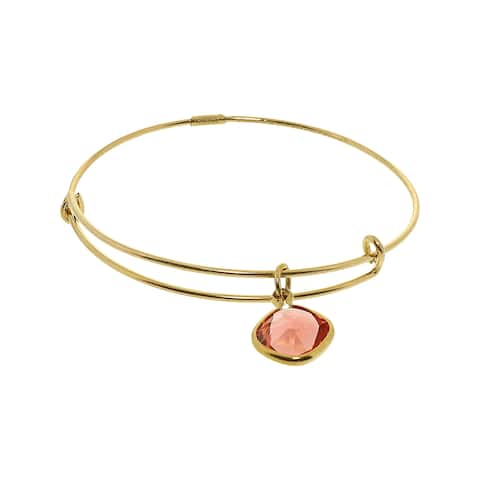 "Alex And Ani Women's Padparadscha Energy Color Therapy Bangle Bracelet - 7"" - Gold"