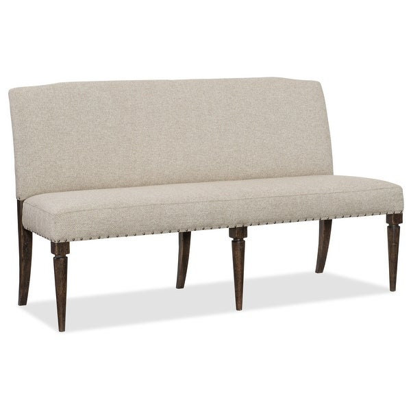 """Hooker Furniture 1618-75019 Roslyn County 69"""" Wide Wood Framed Upholstered Farmhouse Style Bench from the American Life"""