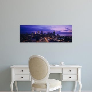 Easy Art Prints Panoramic Images's 'High angle view of buildings in a city, Cleveland, Ohio, USA' Premium Canvas Art