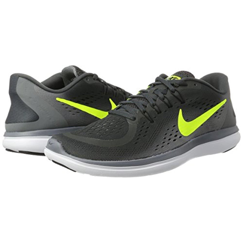 official photos f7f57 a41d5 Men's Nike Flex RN 2017 Running Shoe Anthracite/Volt/Cool Grey/Black