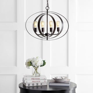 "Link to Safavieh Lighting Killian Adjustable 4-light LED Brass Pendant - 23.6""x23.6""x22-94"" Similar Items in Pendant Lights"