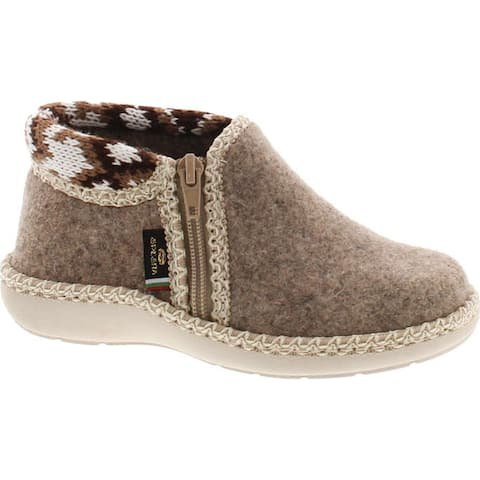 Sc Home Collection Kids 18417 Natural Wool and Knitted House Slippers Made in Europe